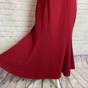 Lulu's Dresses - Lulu's Slice of Joy halter burgundy maxi dress